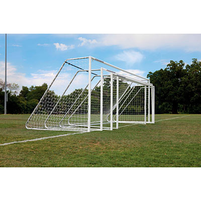 "Official 3"" Aluminum Soccer Goal 7'x21' photo"